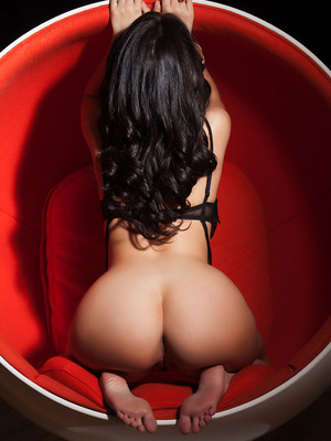 March Pet of the Month Ava Dalush shows off her sexiness in a round chair. pics ~ SexyNakedModels.com